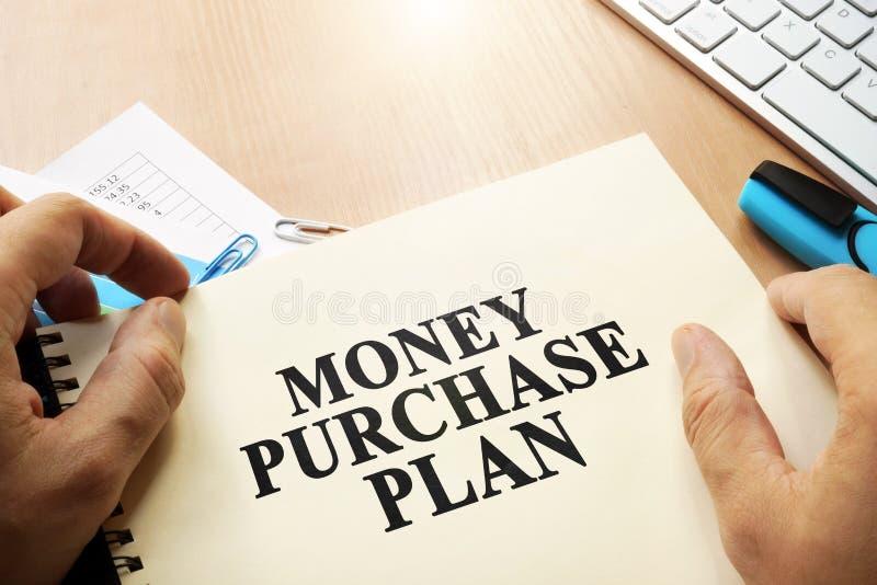 Livro com plano PMP (produção máxima possível) da compra do dinheiro do nome imagem de stock royalty free