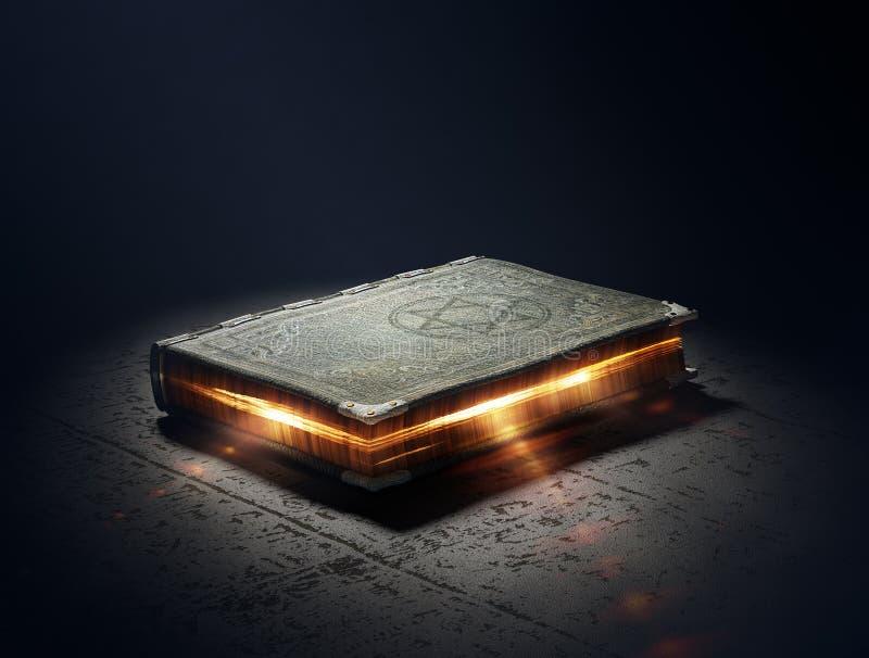 Livro com poderes mágicos ilustração do vetor