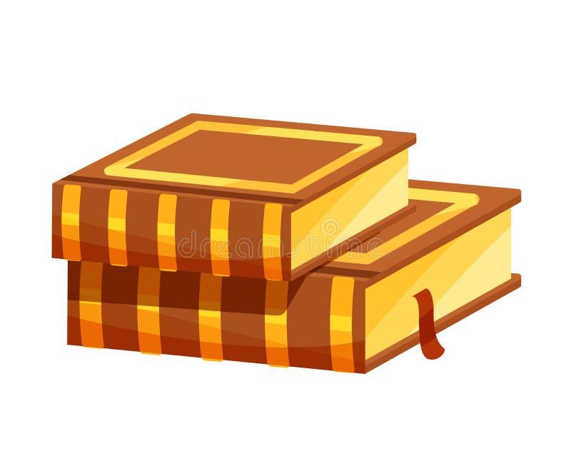 Livro com scriptures no feriado judaico santamente das velas, Hanukkah ilustração stock