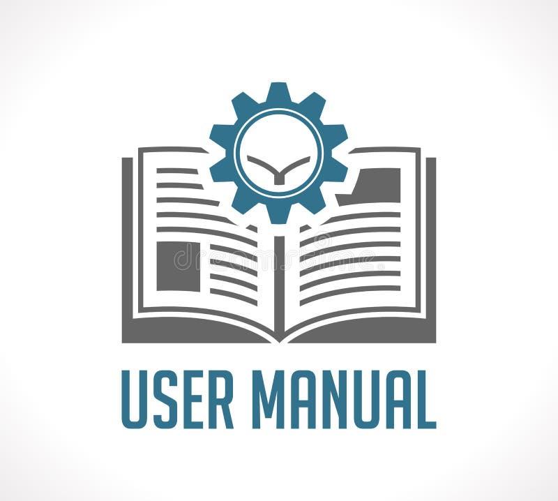 Livro como a base de conhecimento - manual do guia do usuário ilustração royalty free