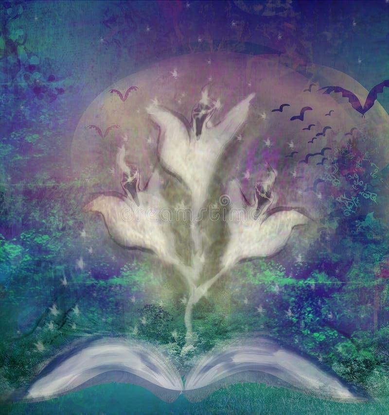 Livro da história com histórias de fantasma ilustração royalty free