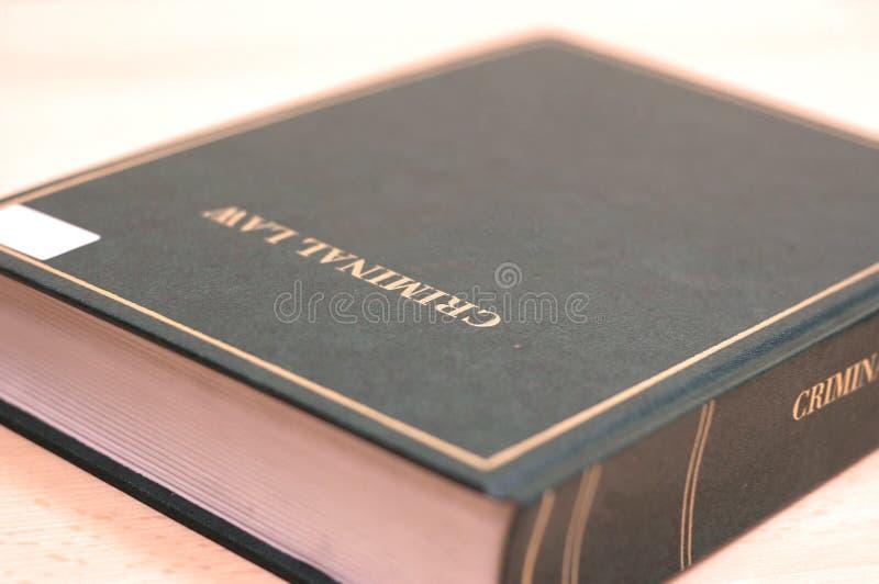 Livro da lei criminal fotografia de stock