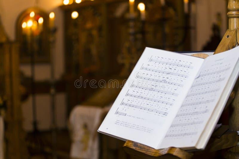 Livro da música foto de stock