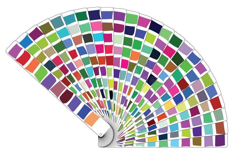 Livro da paleta de cores do vetor ilustração stock