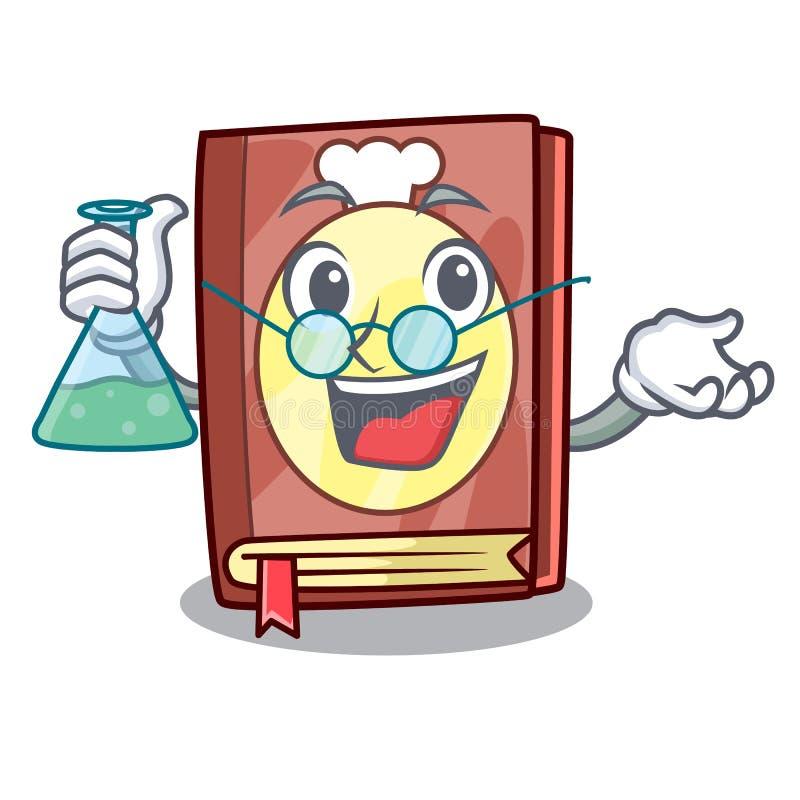 Livro da receita do professor isolado nos desenhos animados ilustração stock