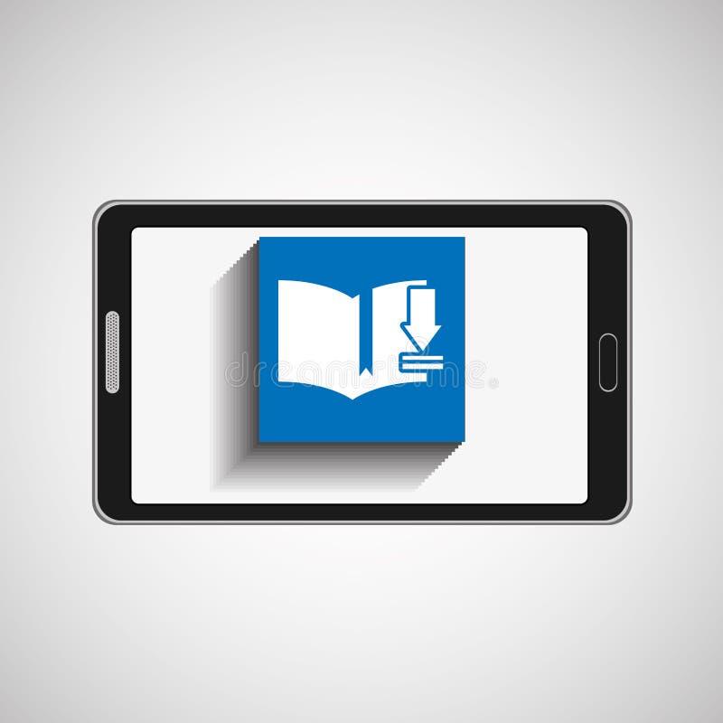Livro da transferência da tecnologia de Smartphone digital ilustração stock