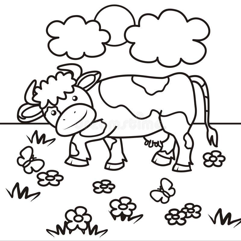 Livro Da Vaca-coloração Imagens de Stock Royalty Free