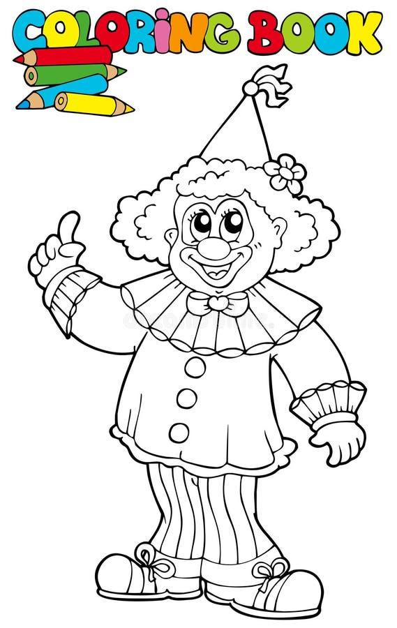 Livro de coloração com palhaço engraçado ilustração do vetor