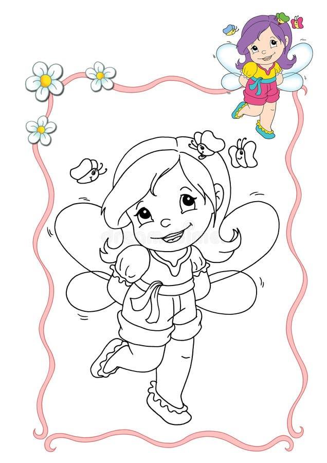Livro de coloração - fairy 10 ilustração royalty free