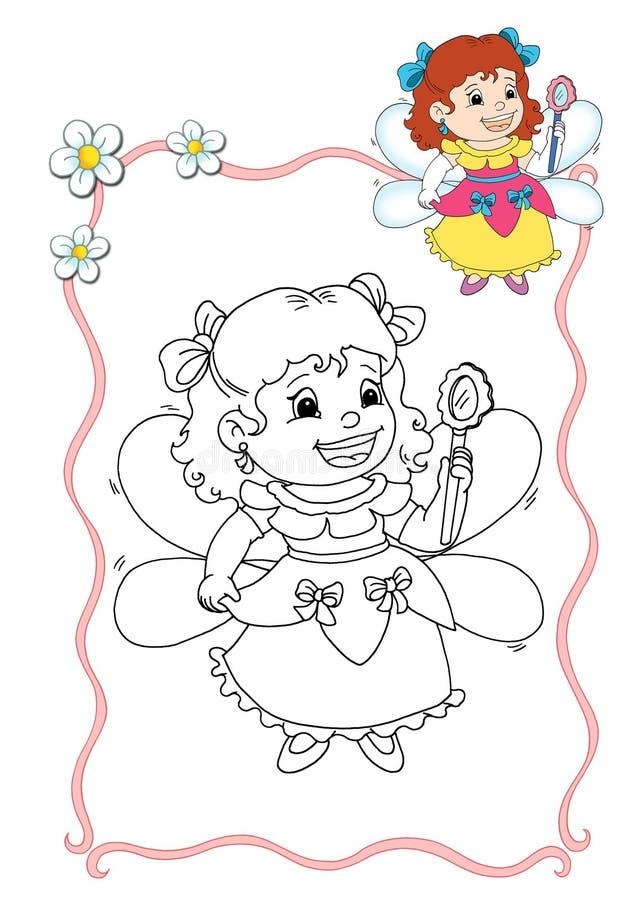Livro de coloração - fairy 5 ilustração do vetor