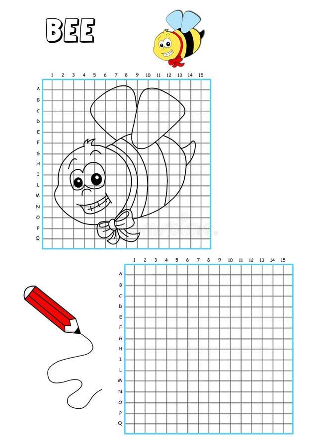 Livro de coloração - grelha 2 ilustração royalty free