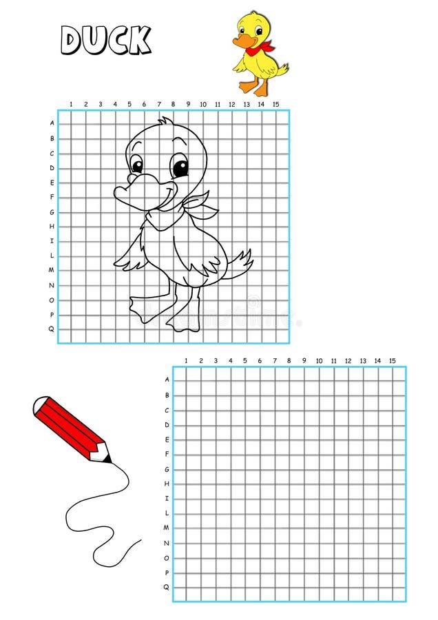 Livro de coloração - grelha 8 ilustração do vetor