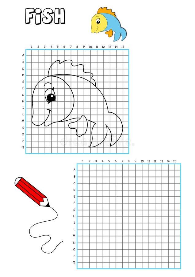 Livro de coloração - grelha 9 ilustração do vetor