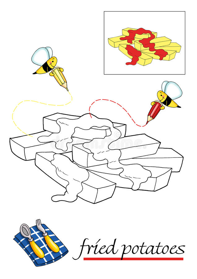 Livro de coloração para as crianças 9 ilustração do vetor