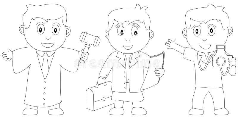 Livro de coloração para os miúdos [10] ilustração do vetor