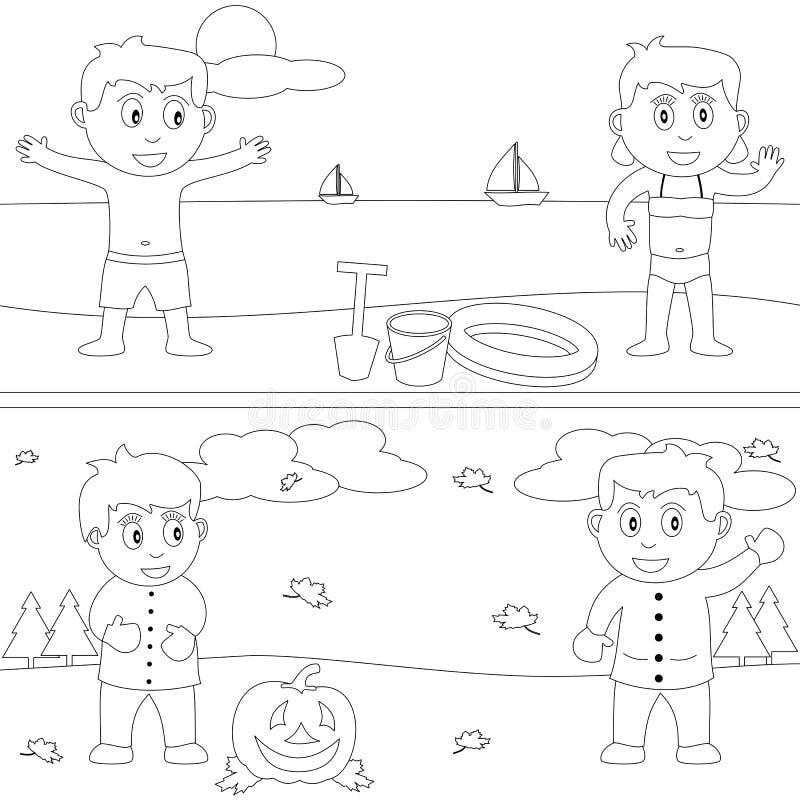 Livro de coloração para os miúdos [29] ilustração stock