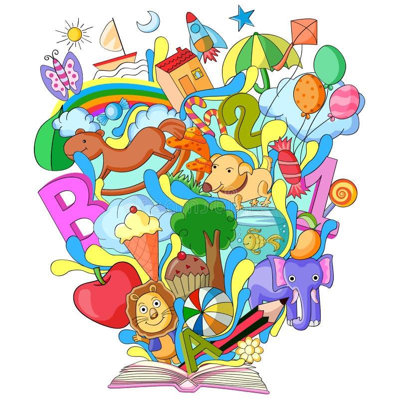 Livro de conhecimento para crianças ilustração royalty free