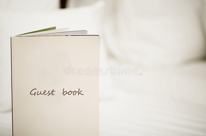 Livro de convidado fotografia de stock