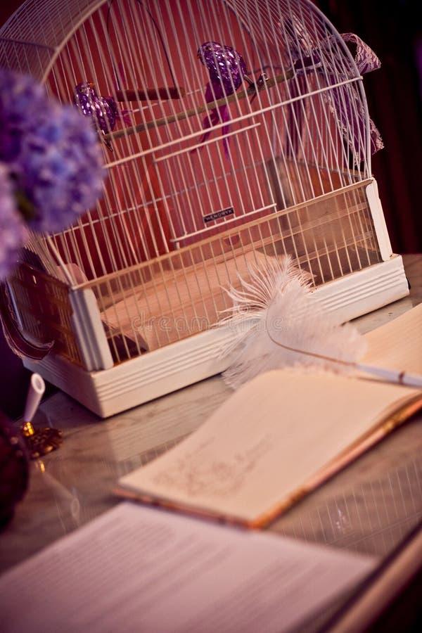 Livro de convidado do casamento imagens de stock royalty free