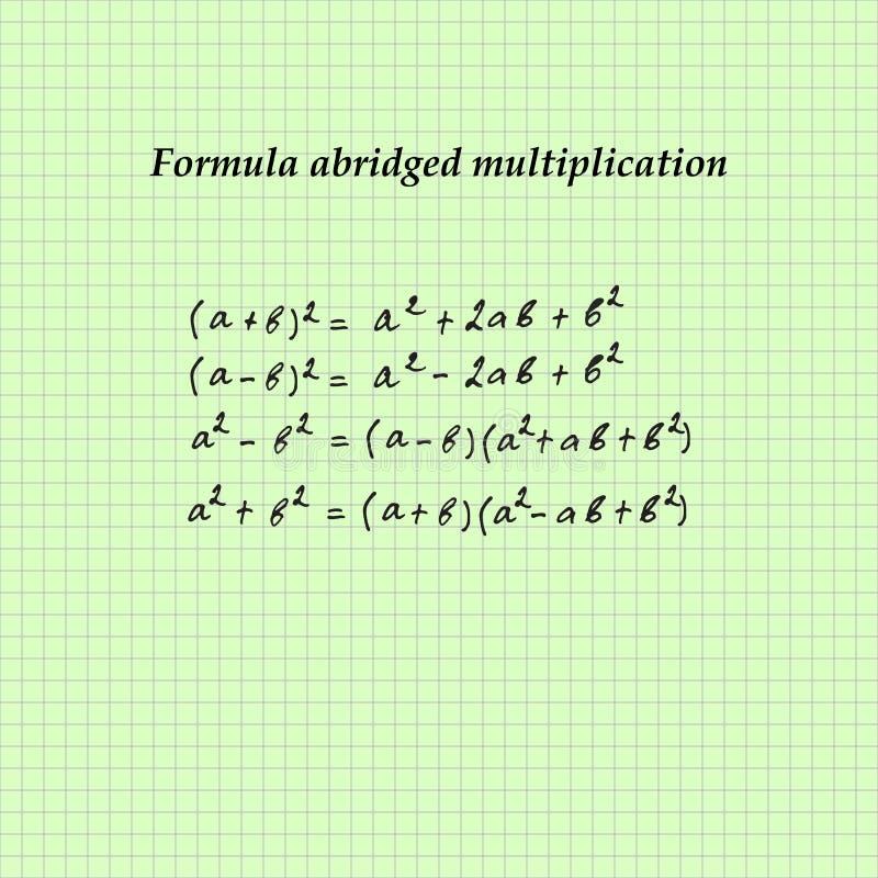 Livro de exerc?cio em uma gaiola As fórmulas para a álgebra equa??es Ilustra??o do vetor ilustração do vetor