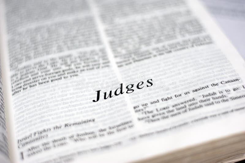 Livro de juizes foto de stock