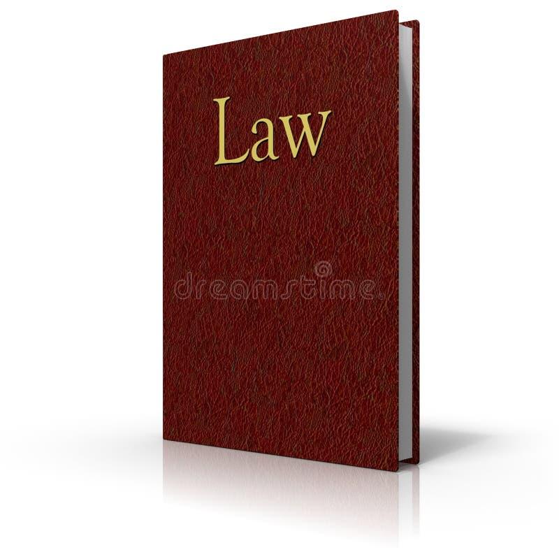 Livro de lei com tampa de couro vermelha ilustração stock