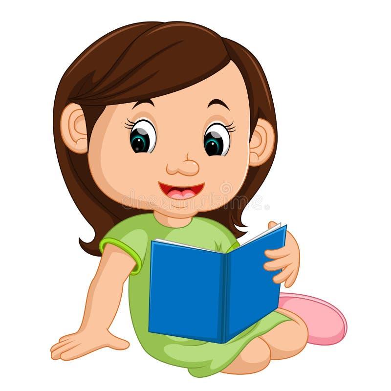 livro de leitura da menina ilustração stock