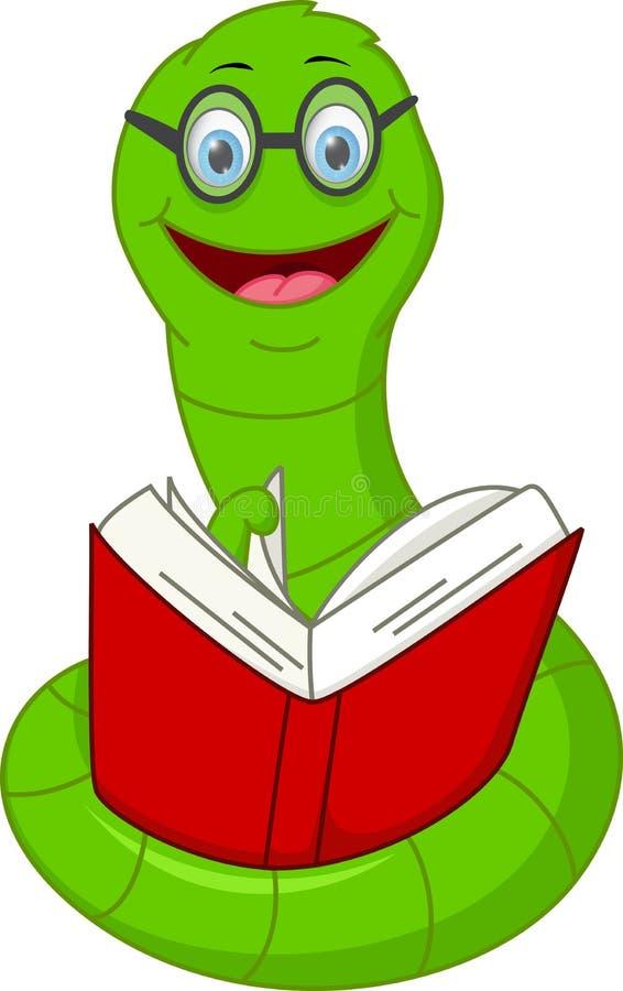 Livro de leitura feliz dos desenhos animados do sem-fim ilustração do vetor