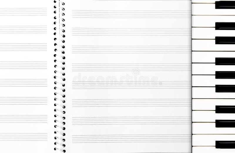 Livro de música imagem de stock