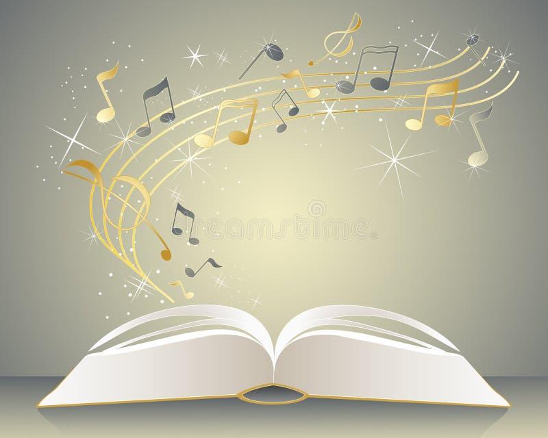 Livro de música ilustração stock