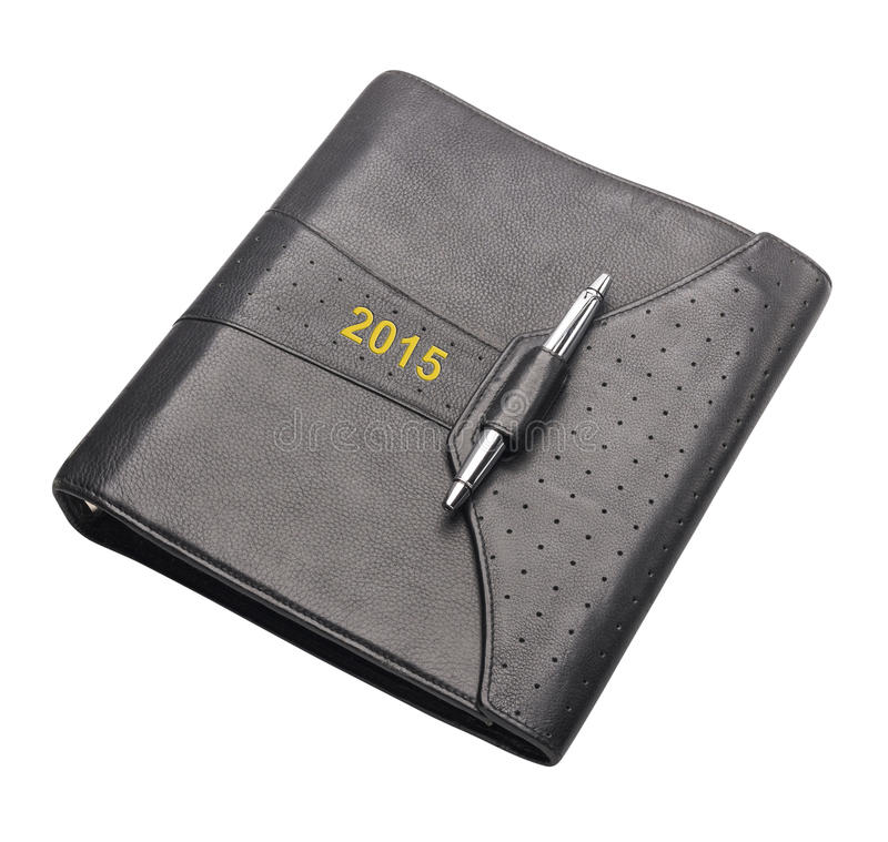 Livro de nomeação para 2015, isolado foto de stock