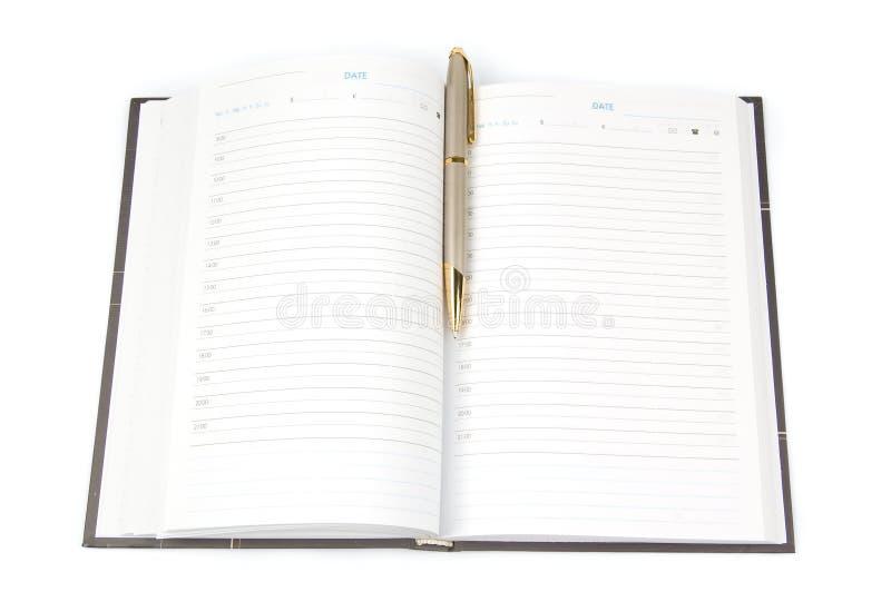 Livro de nomeação vazio imagens de stock