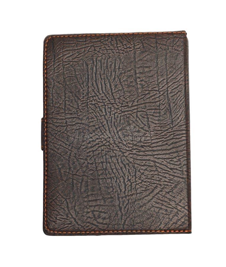 Livro de nota de couro de Brown imagem de stock