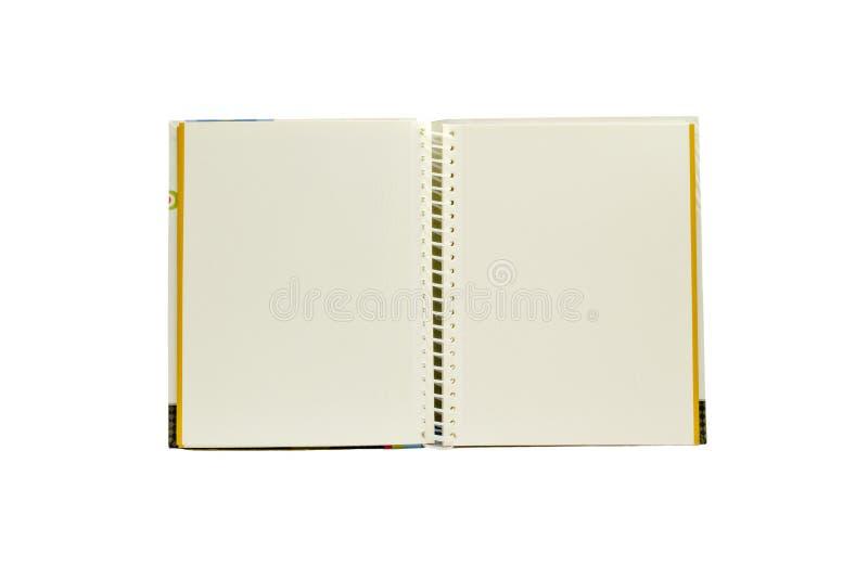 Livro de nota de duas páginas isolado fotos de stock royalty free