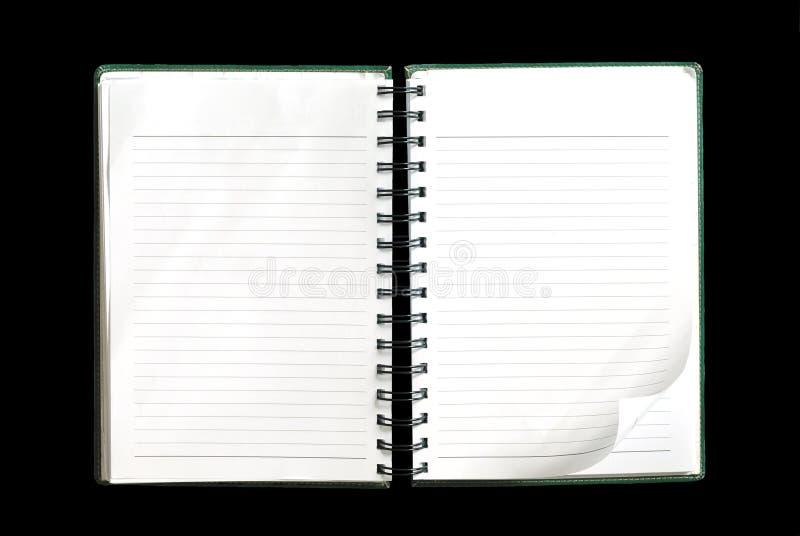Livro de nota em branco imagens de stock royalty free