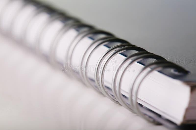 Livro de nota espiral foto de stock royalty free