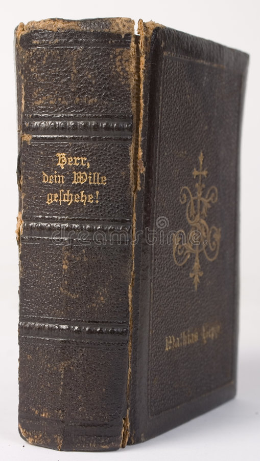 Livro de oração alemão da antiguidade fotografia de stock