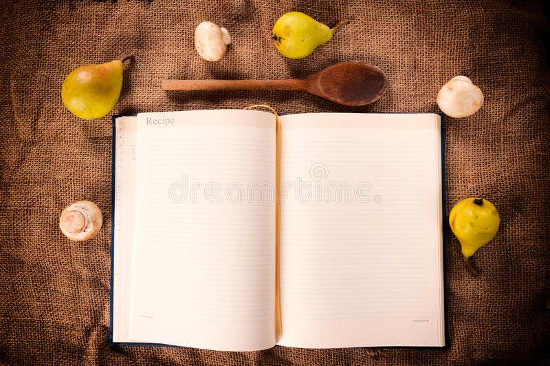 Livro de receitas vazio fotografia de stock royalty free