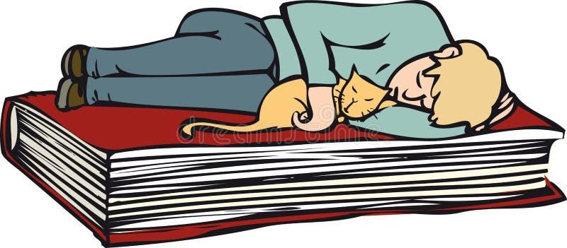 Livro de relaxamento ilustração do vetor