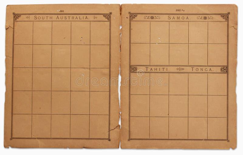 Livro de selo velho fotografia de stock royalty free