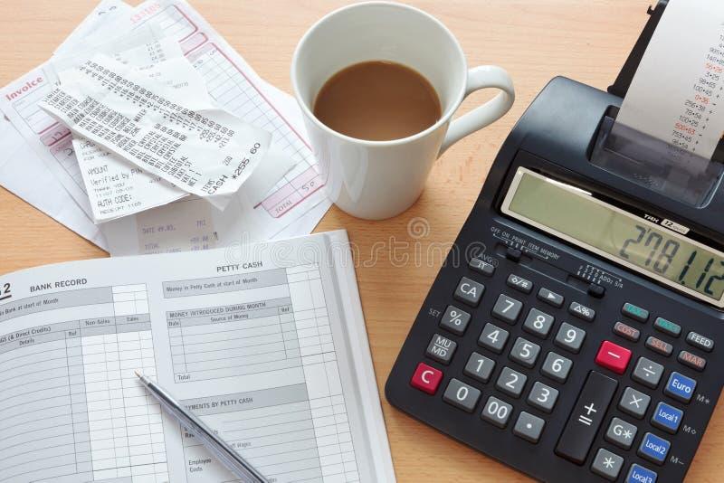 Livro- de vendas da contabilidade imagens de stock