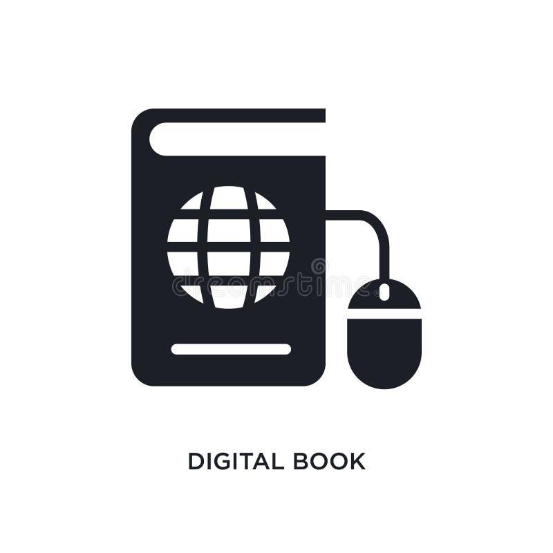 livro digital ícone isolado ilustração simples do elemento dos ícones do conceito do ensino eletrónico símbolo editável do sinal  ilustração do vetor