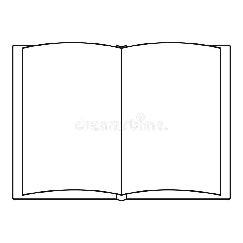 Livro do ícone do conto, estilo do esboço ilustração do vetor
