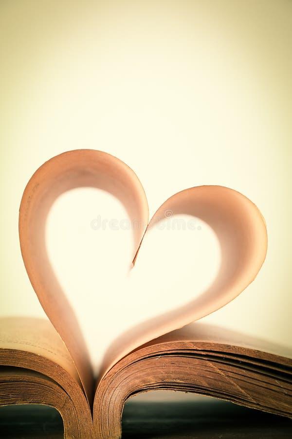 Livro do amor fotografia de stock