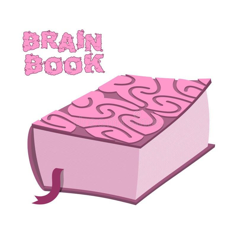 Livro do cérebro Grande enciclopédia grossa Córtice cerebral da tampa bra ilustração stock