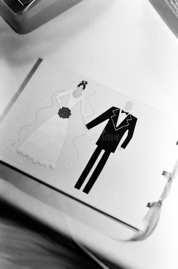 Livro do casamento imagens de stock