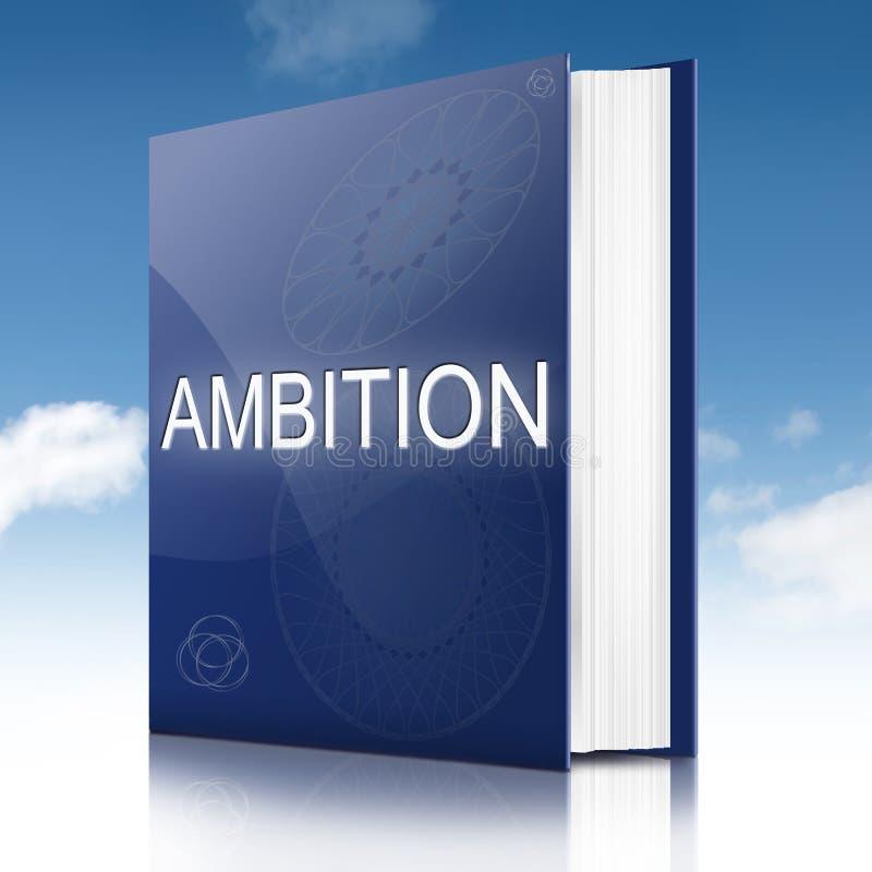 Livro do conceito da ambição ilustração do vetor
