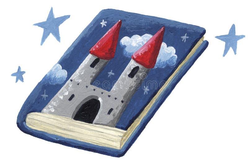 Livro do conto de fadas ilustração royalty free