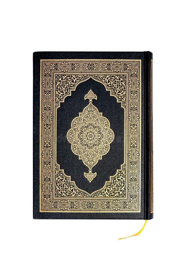 Livro do Corão isolado sobre fundo branco - Holly Qur`an ou Corão imagens de stock
