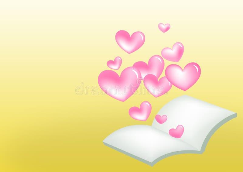 Livro do coração ilustração royalty free